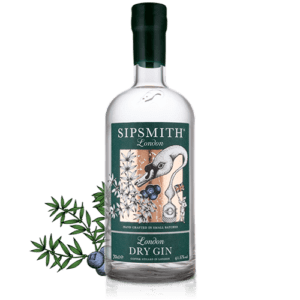 Bottle of Sipsmith gin
